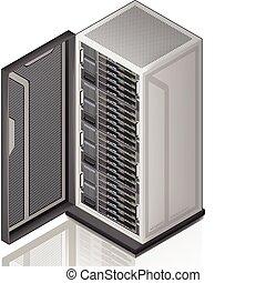 server, rack, netværk