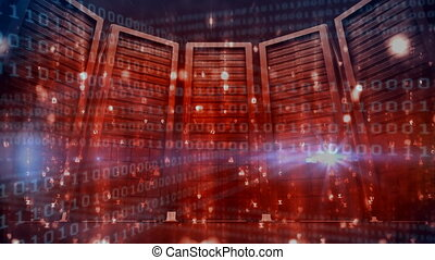 Server Room and binary code