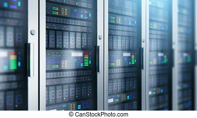 Server room interior in datacenter