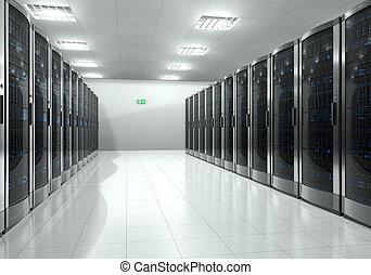 Server room interior - Modern interior of server room in ...