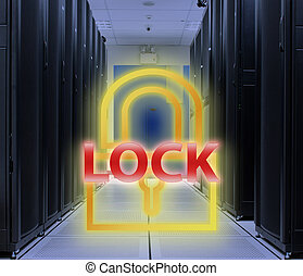 Server room Lock Key : Security concept