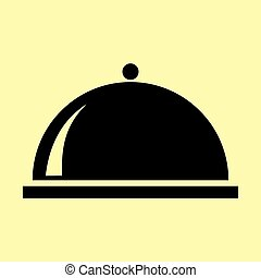 Server sign. Flat style icon