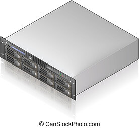 Server Unit - Single Server Unit Isometric 3D Icon (part of...