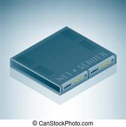 Server Unit is a part of the Isometric 3D Computer Hardware Icons Set