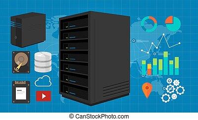 server vector illustration