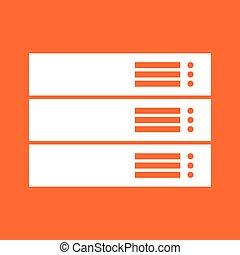 Server white color icon .