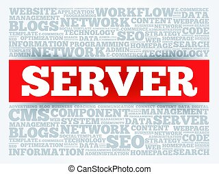 Server word cloud