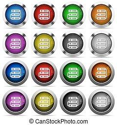 Servers glossy button set