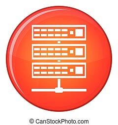 Servers icon, flat style