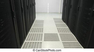 Servers racks. real Modern datacenter. Cloud computing. Server in datacenter. Cloud computing data storage
