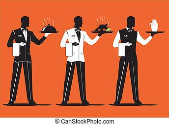 serveur, parade, 1