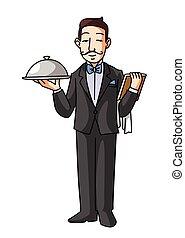serveur, restaurant