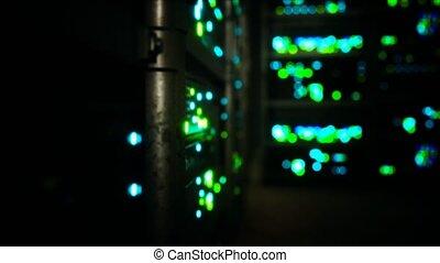 serveurs, données, intérieur, salle serveur, industriel, propre
