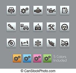 serviço, ícones, --, car, satinbox, serie