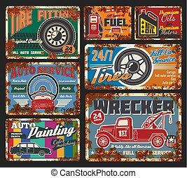 serviço carro, e, reparar, wrecker, ordem, e, combustível, 24, h