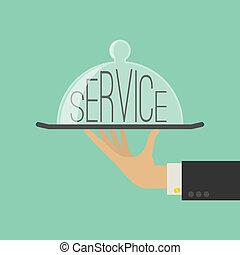 serviço, concept., apartamento, style., vetorial, ilustração