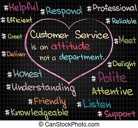 serviço freguês, atitude