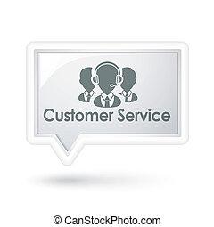 serviço freguês, fala, serviços, bolha, ícone