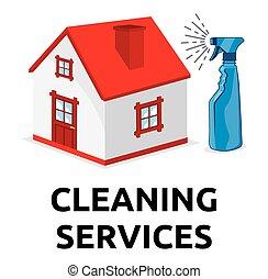serviços, limpeza