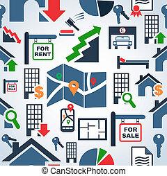 serviços, padrão, mercado propriedade