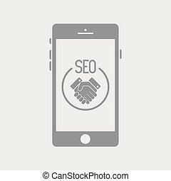 serviços, seo, smartphone, acordo