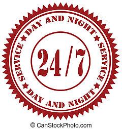 Service 24/7-stamp