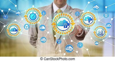 service, activates, nuage, récipients, fournisseur