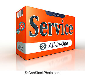service advertising orange pack concept