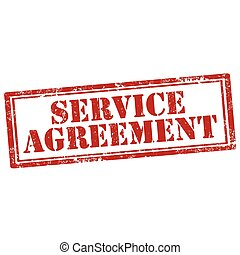 Service Agreement - Grunge rubber stamp with text Service...