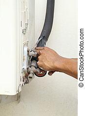 service air conditioner drip valve