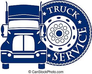 service, automobile, illustration, vecteur, conception, ...