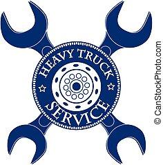 service, automobile, illustration, vecteur, conception, camion, hevy