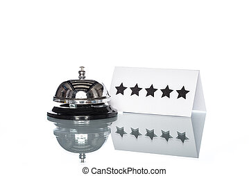Service bell on the Check in desk, five star Service