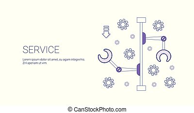 Service Business Concept Template Web Banner With Copy Space