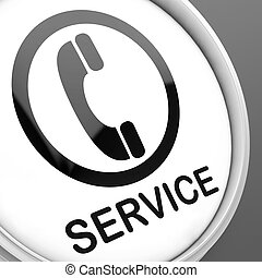 Service Button Means Call For Customer Help