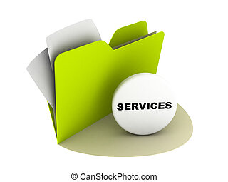 service button - illustration of a folder with service...