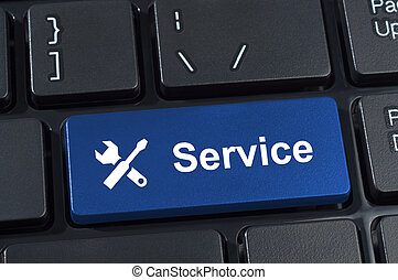 Service button with tools icon.