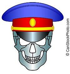 Service cap and skull