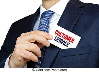 service clientèle, business, conseil, -, carte