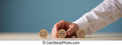 service clientèle, concept, information