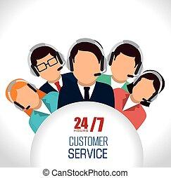 service clientèle, design.