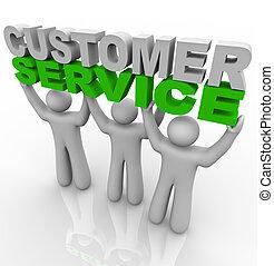 service clientèle, -, levage, les, mots