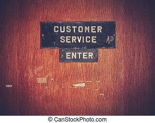 service clientèle, signe