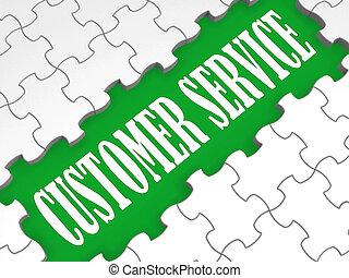 service clientèle, technique, puzzle, soutien, spectacles