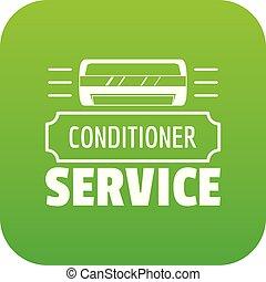Service conditioner icon green vector