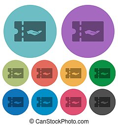Service discount coupon color darker flat icons - Service...