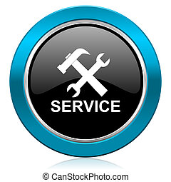 service glossy icon