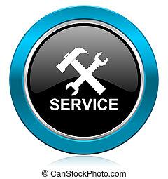 service glossy icon