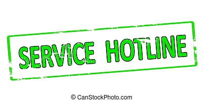 Service hotline - Rubber stamp with text service hotline...