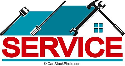 Service house - Service with symbol tool. Repair and ...